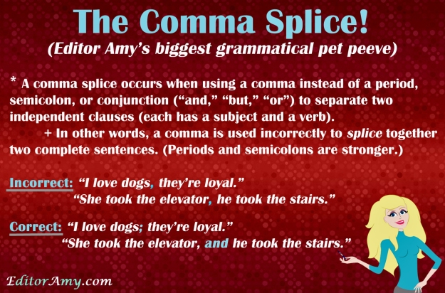 Editor Amy--comma splice