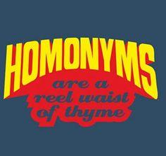 Homonyms--EditorAmy